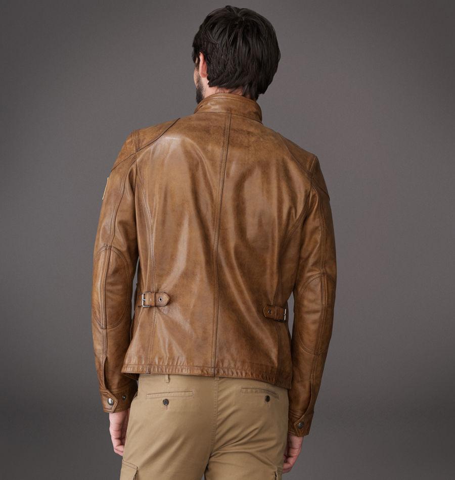 Belstaff Burgess Leather Jacket In Tan
