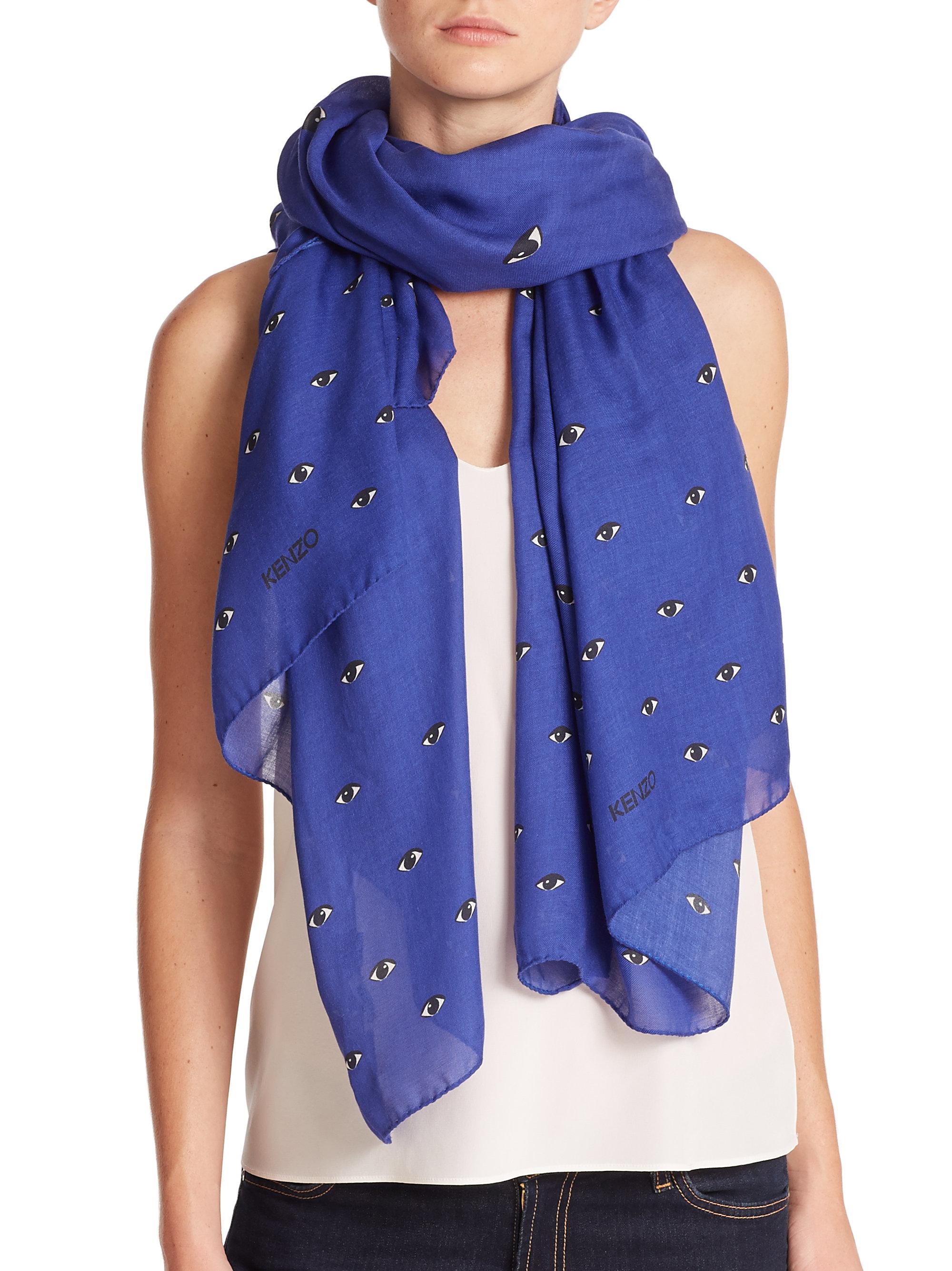 paisley ferrari brown lyst glick accessories dark franco scarf in gallery