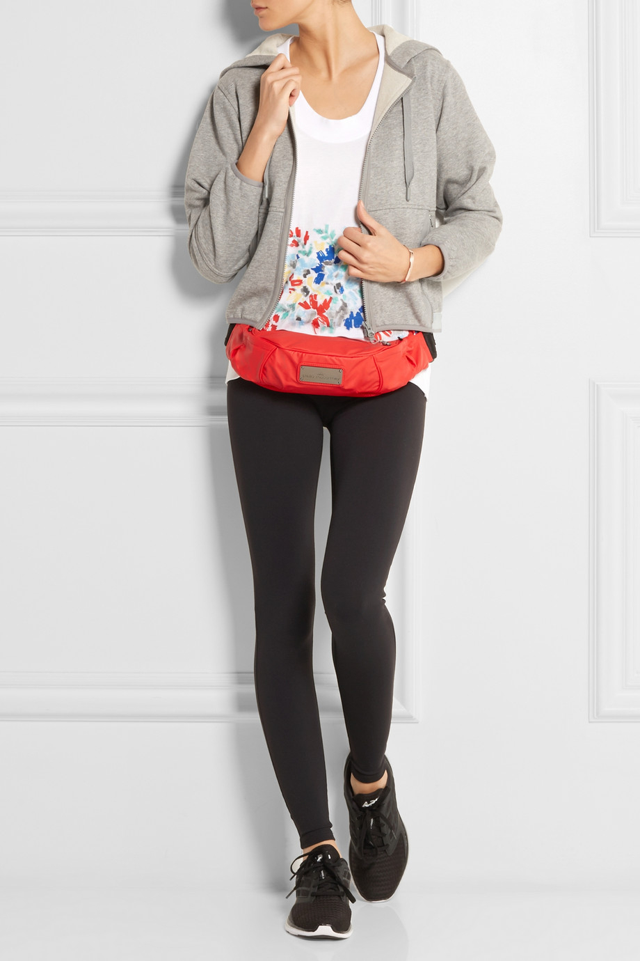2cfadc11a7b5 Lyst - adidas By Stella McCartney Mesh-Paneled Shell Belt Bag in Red