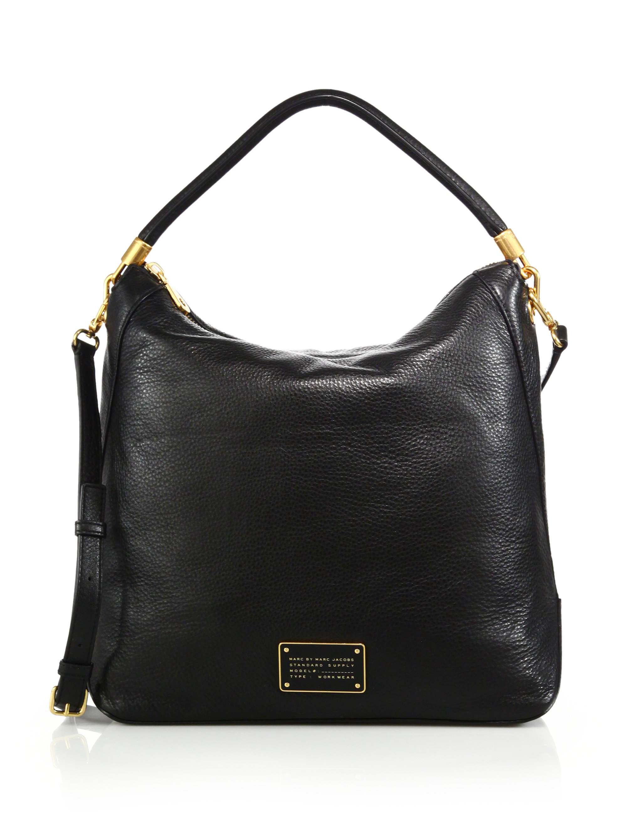 marc by marc jacobs too hot to handle leather hobo bag in black lyst. Black Bedroom Furniture Sets. Home Design Ideas