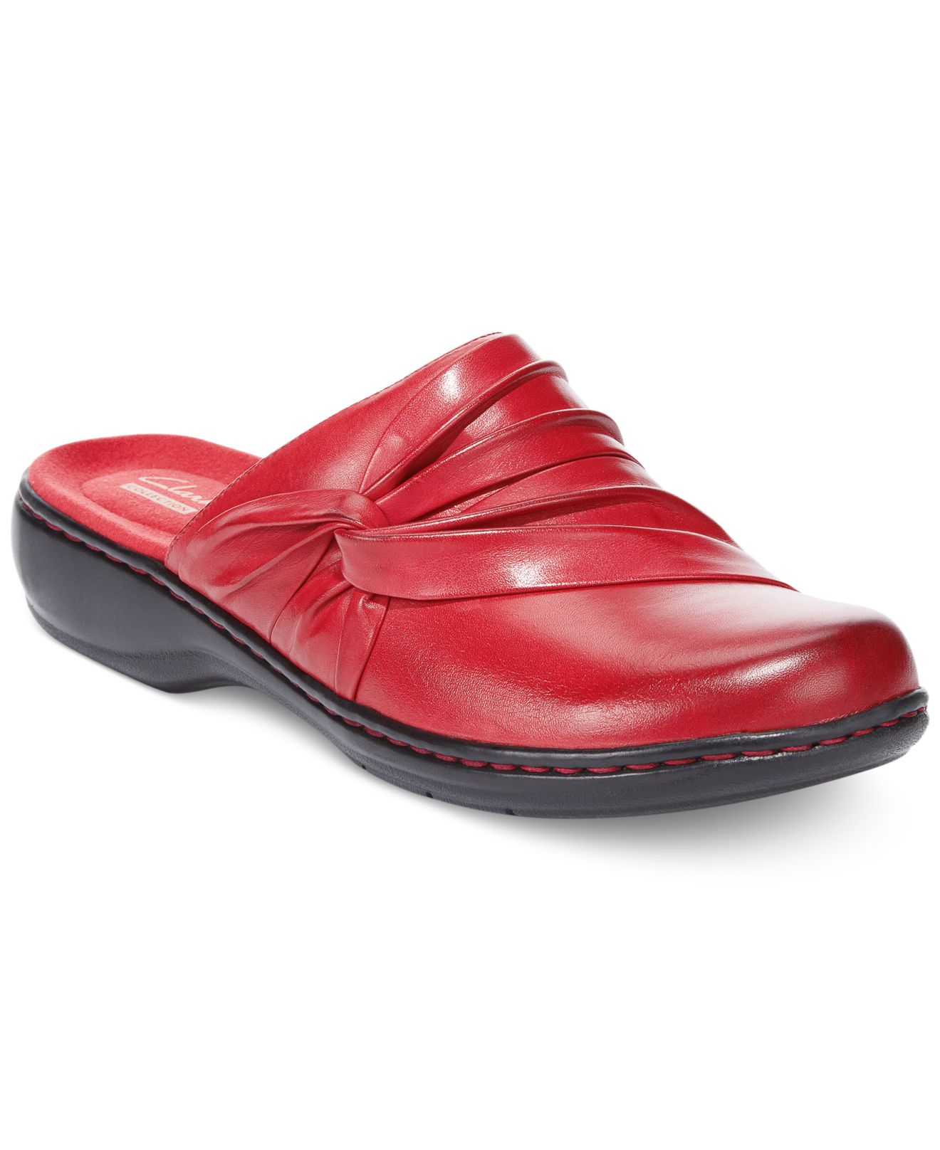 Lyst Clarks Collections Womens Leisa Deina Clogs In Red