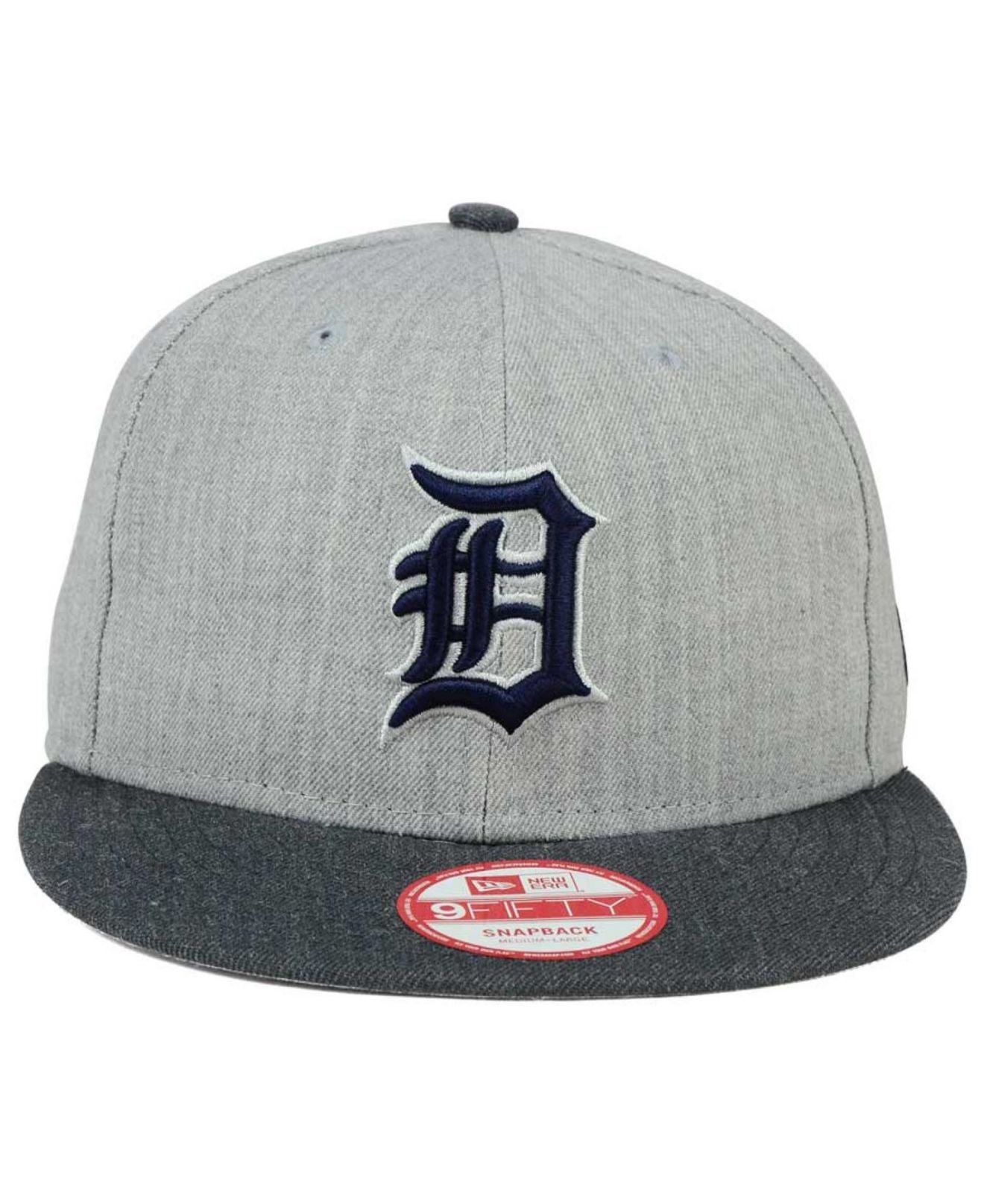 29a94ed42e8 Lyst - KTZ Detroit Tigers Heather Action 9fifty Snapback Cap in Gray ...