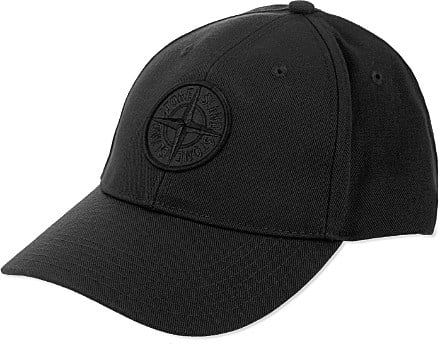 Stone Island Logo Baseball Cap - For Men in Black for Men - Lyst 78b654065ec