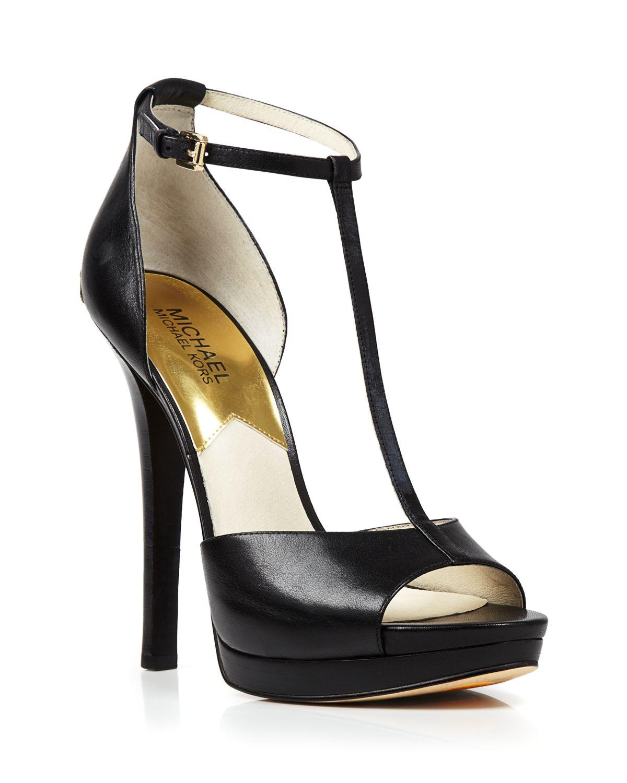 cd9f387fdc2 Lyst - MICHAEL Michael Kors Open Toe T Strap Platform Sandals ...