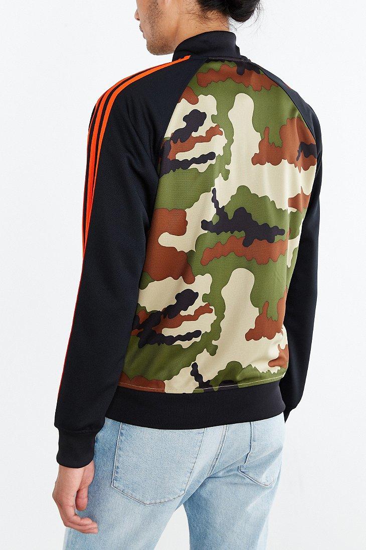 lyst adidas originals start superstar camo track jacket. Black Bedroom Furniture Sets. Home Design Ideas