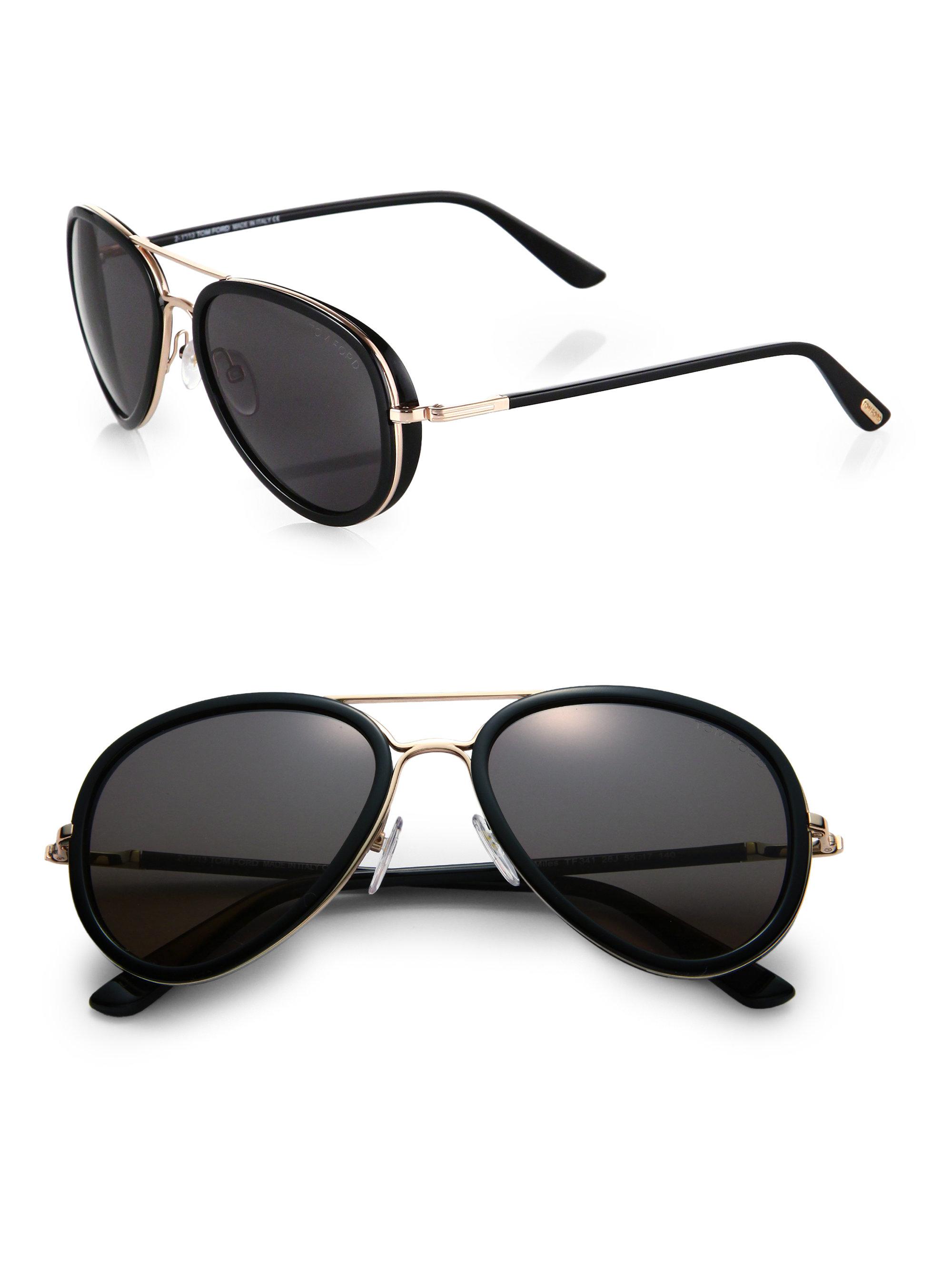 ef961144b6535 Gallery. Lyst - Tom Ford Miles Sunglasses in Black ...