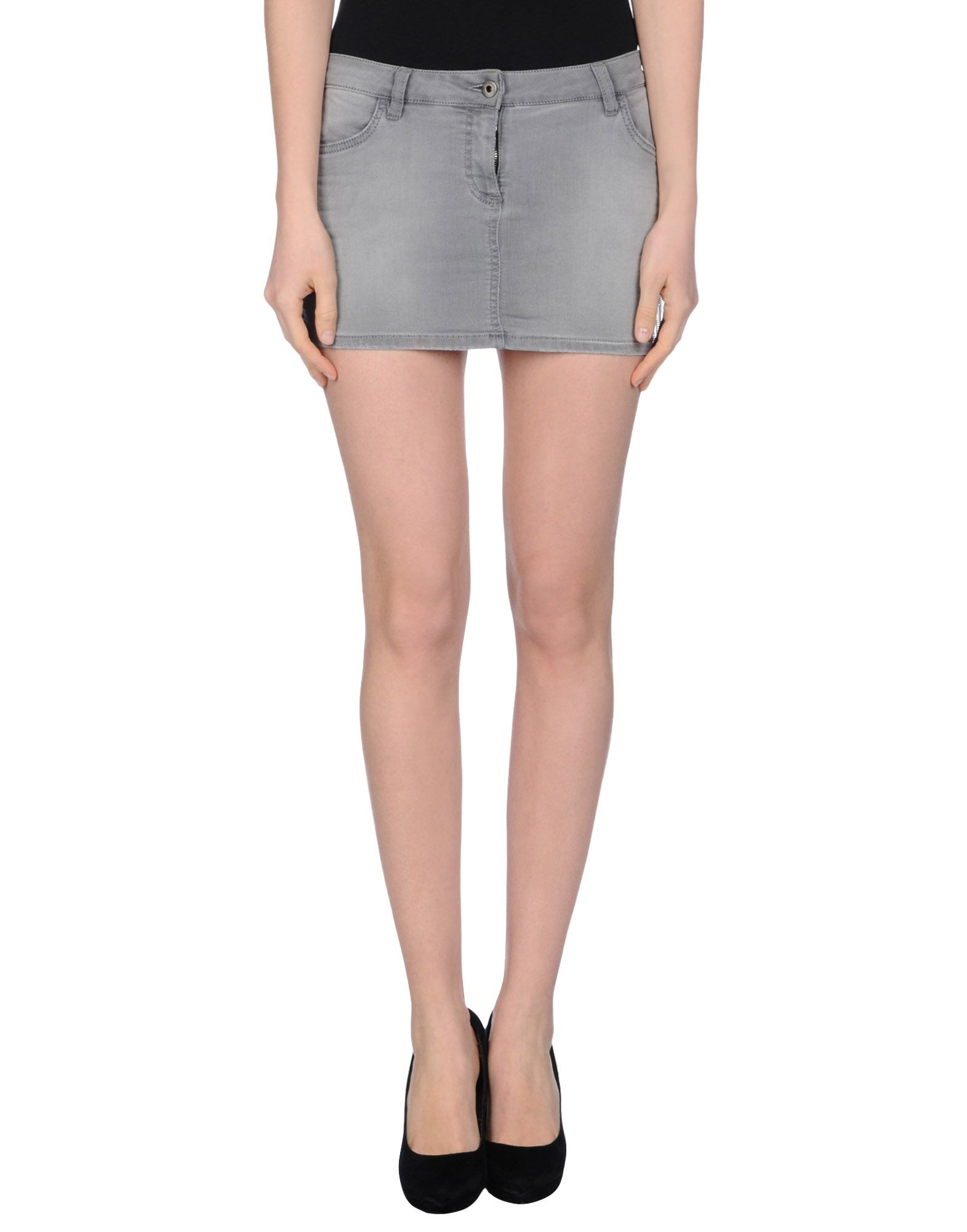 Grey Denim Skirt 67