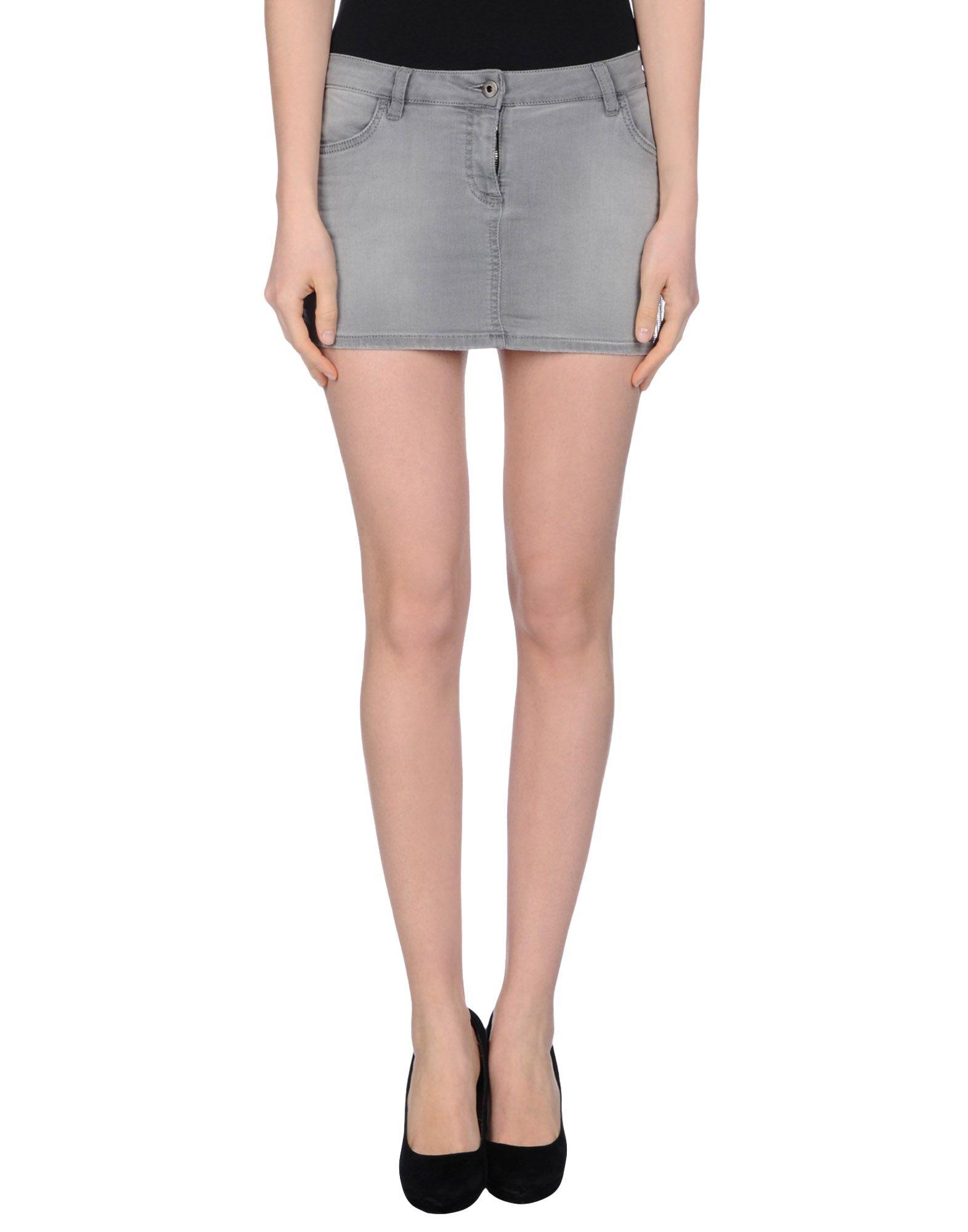 pepe denim skirt in gray lyst