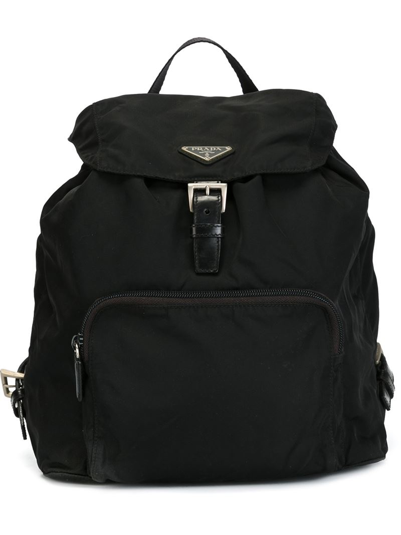 Prada Classic Backpack in Black | Lyst