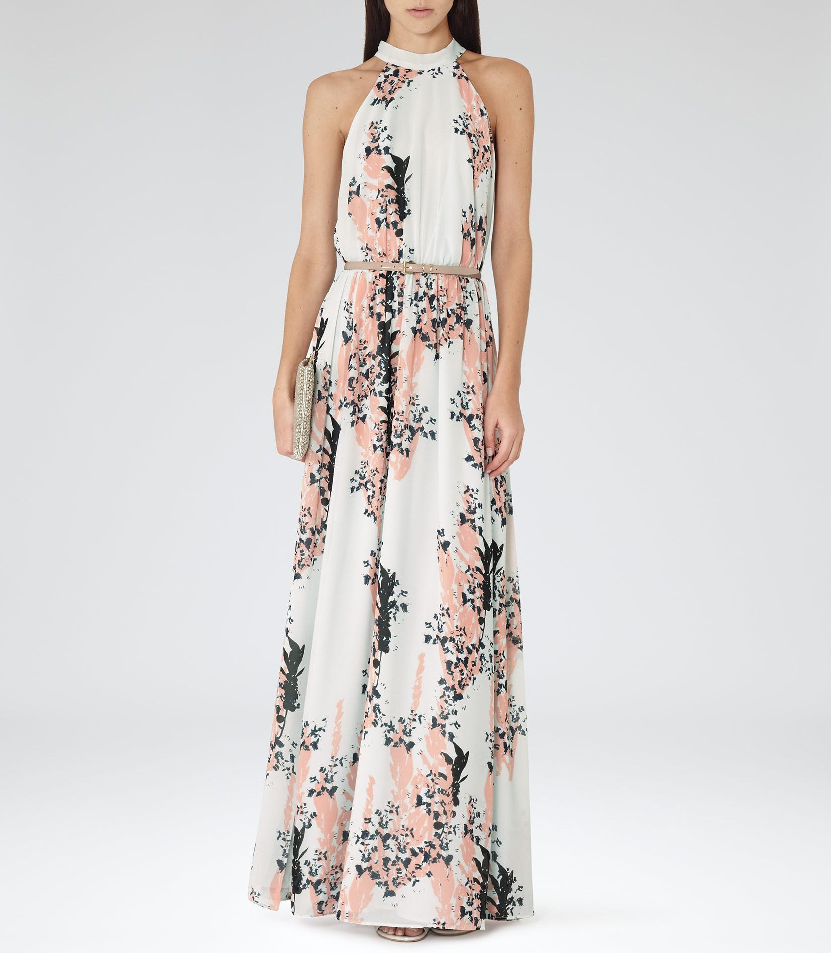 Reiss Arleta Floral-Print Maxi Dress in Pink - Lyst e4fcaf975