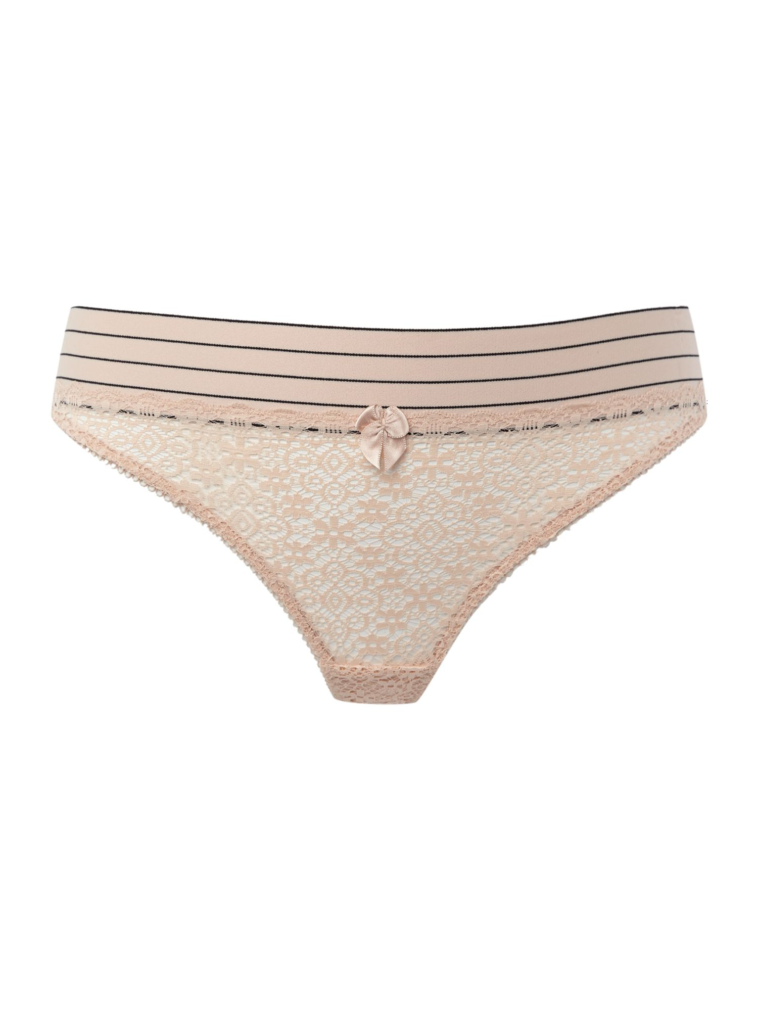 Stella mccartney millie drawing thong in pink lyst for Stalla ovini dwg