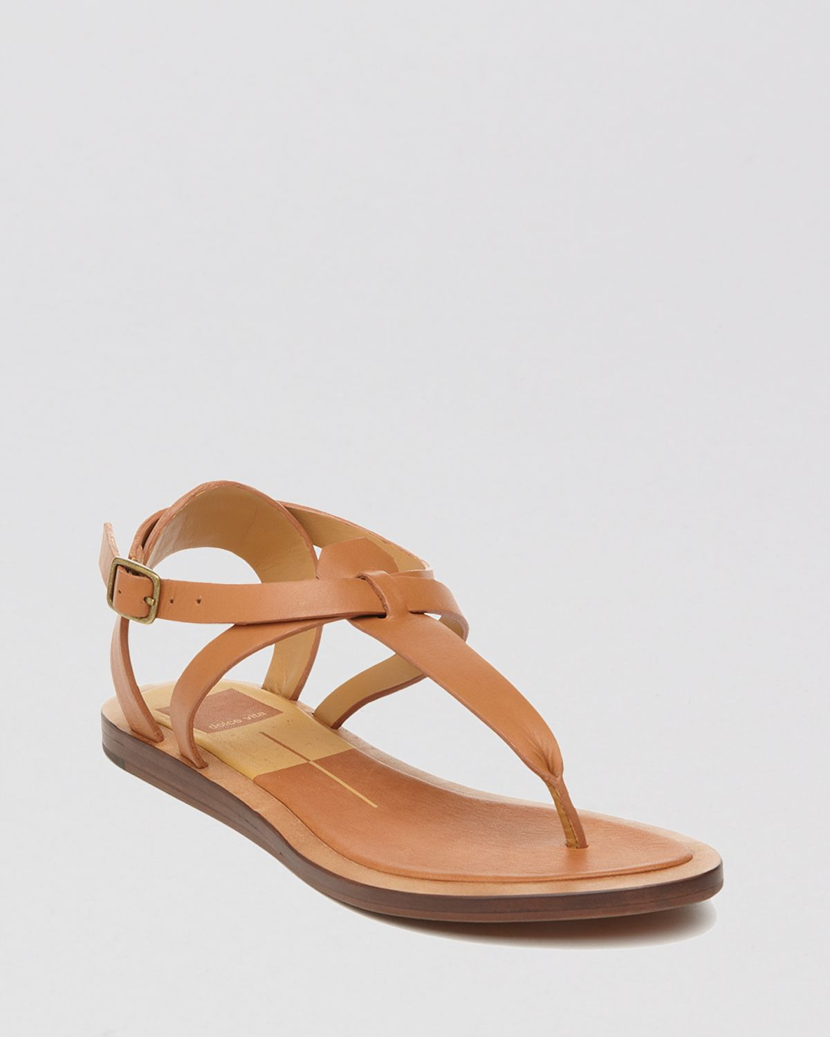 Lyst - Dolce Vita Flat Thong Sandals - Fabia in Brown