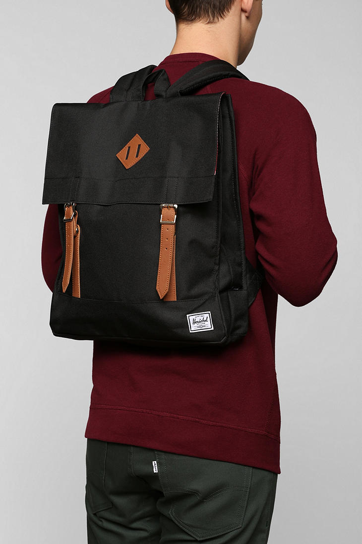 Lyst - Urban Outfitters Herschel Supply Co Survey Backpack in Black ... 0e6eec0ca92b9