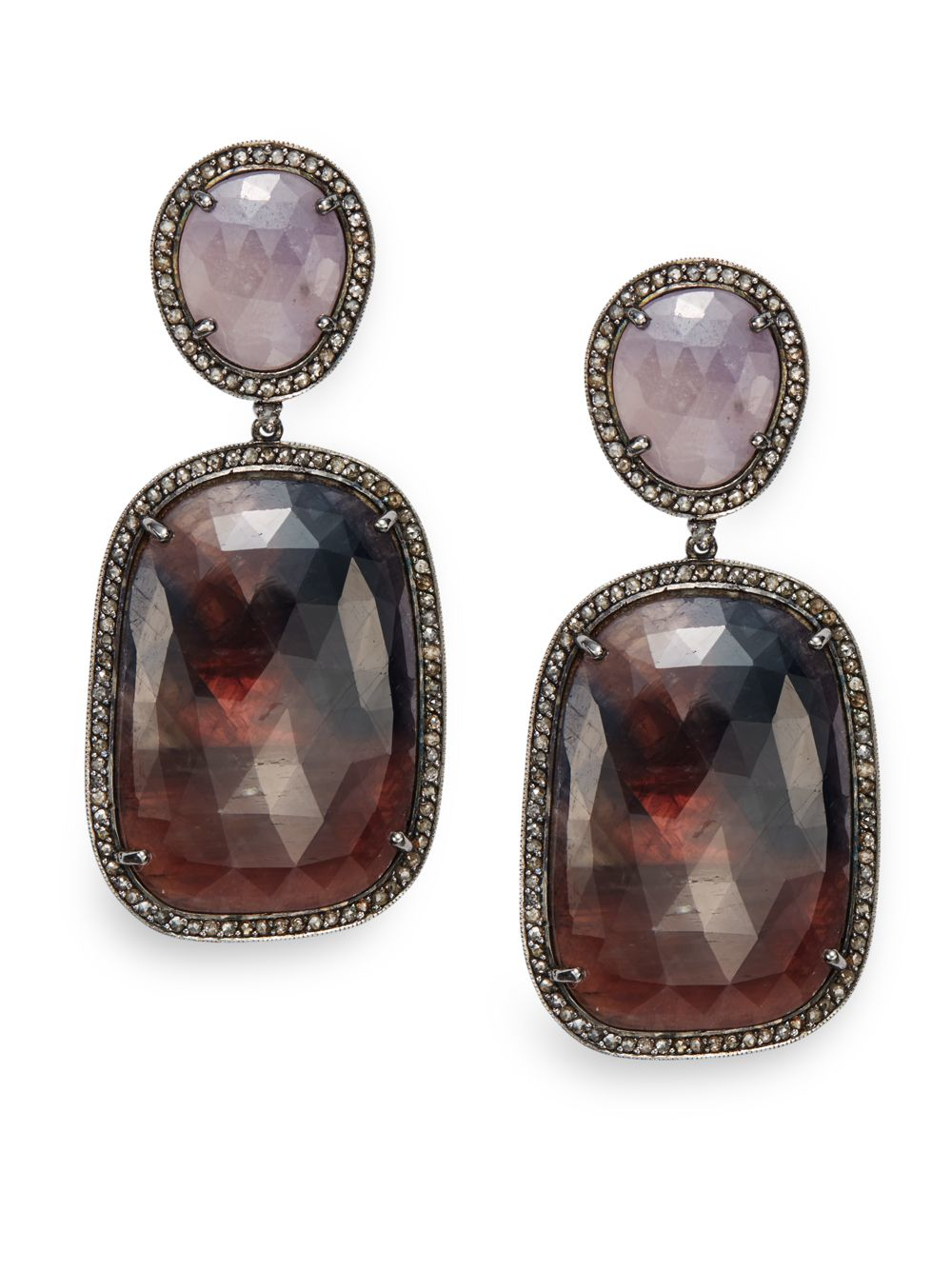 Bavna Multi-Sapphire Drop Earrings jruMm5APD