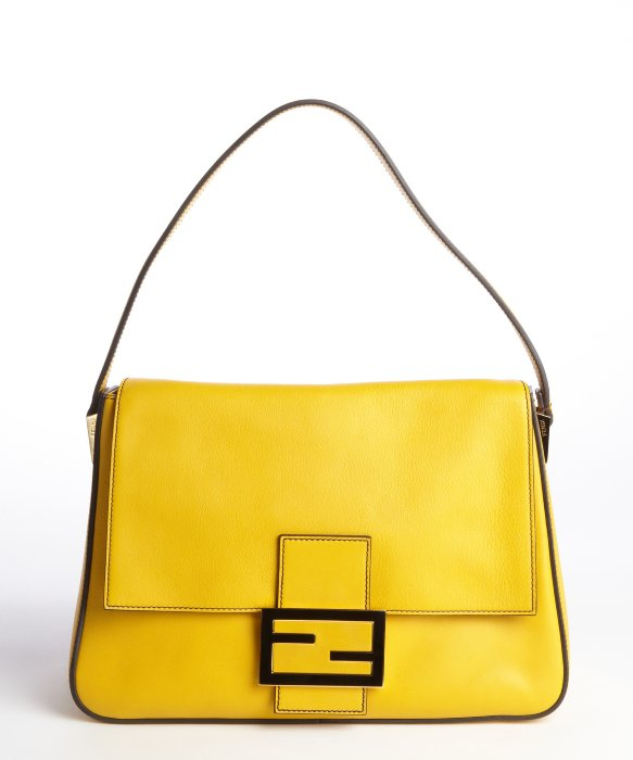 180bcf904616 ... coupon for lyst fendi yellow leather mamma shoulder bag in yellow f15a2  31974