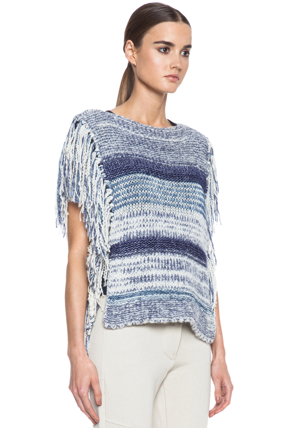 lyst toile isabel marant peyton sweater in blue. Black Bedroom Furniture Sets. Home Design Ideas