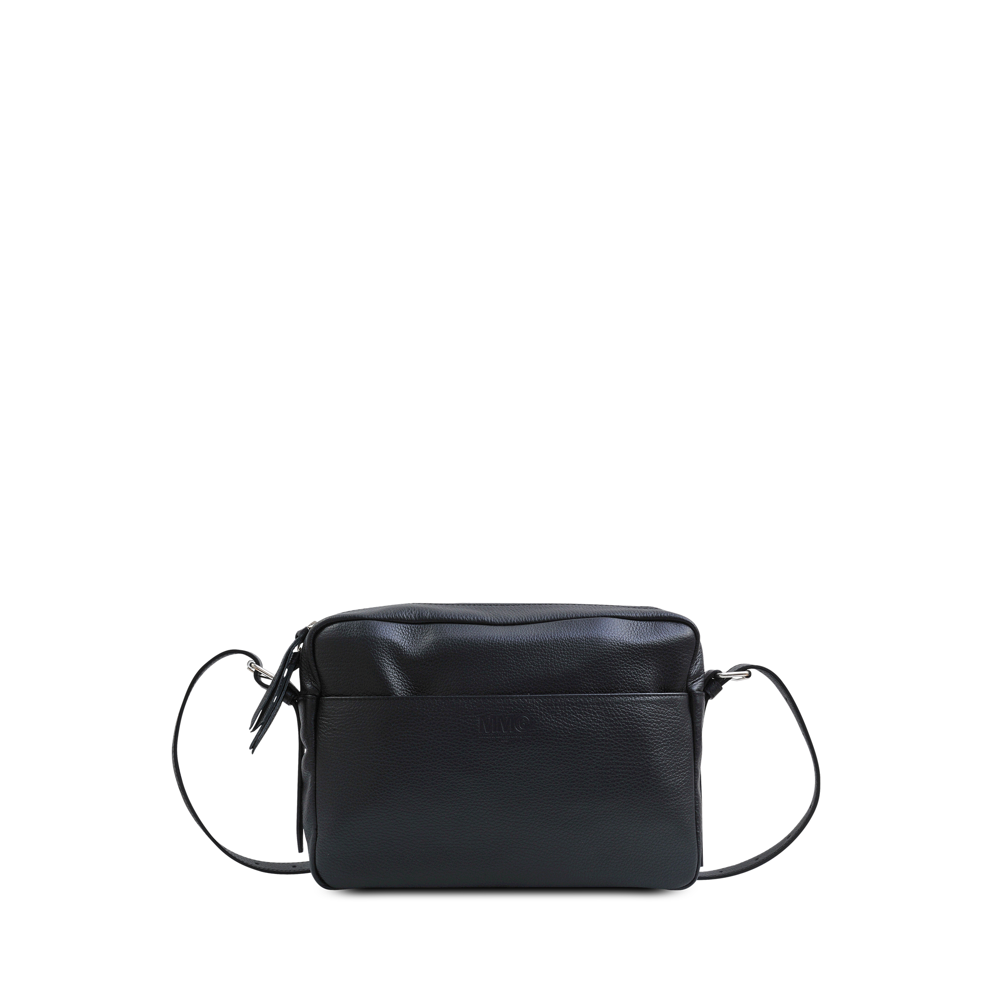Hand Carry Crossbody Bag with Chain in Black Calf Leather with Foil Maison Martin Margiela wvuLe