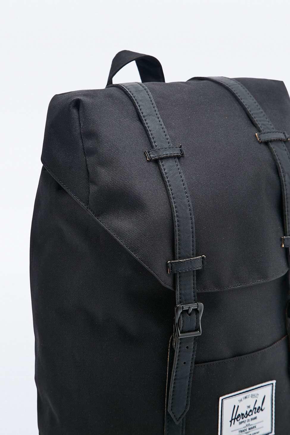 5345122b64e Herschel Supply Co. Retreat Black Backpack in Black - Lyst
