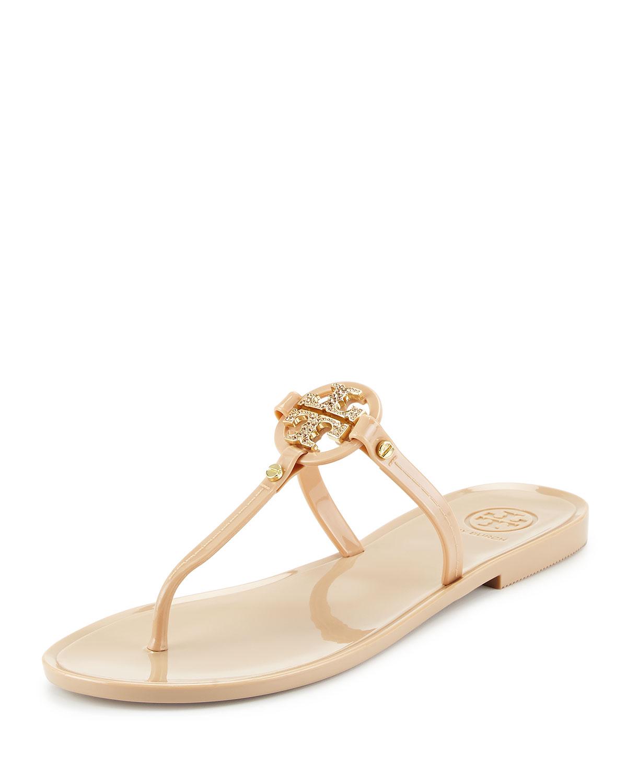 ff55eea57cc5 Lyst - Tory Burch Mini Miller Flat Thong Sandal in Metallic