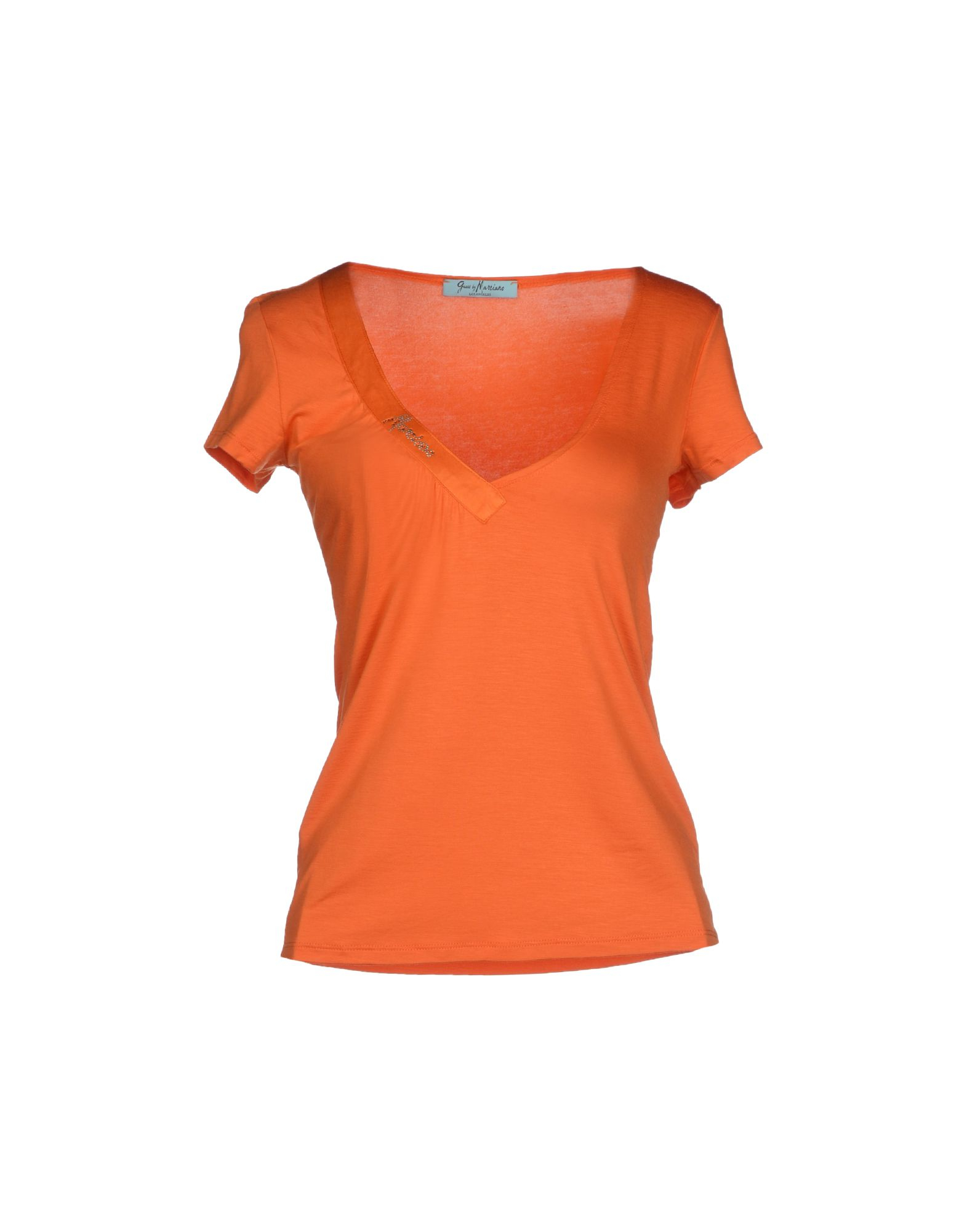 guess t shirt in orange lyst. Black Bedroom Furniture Sets. Home Design Ideas