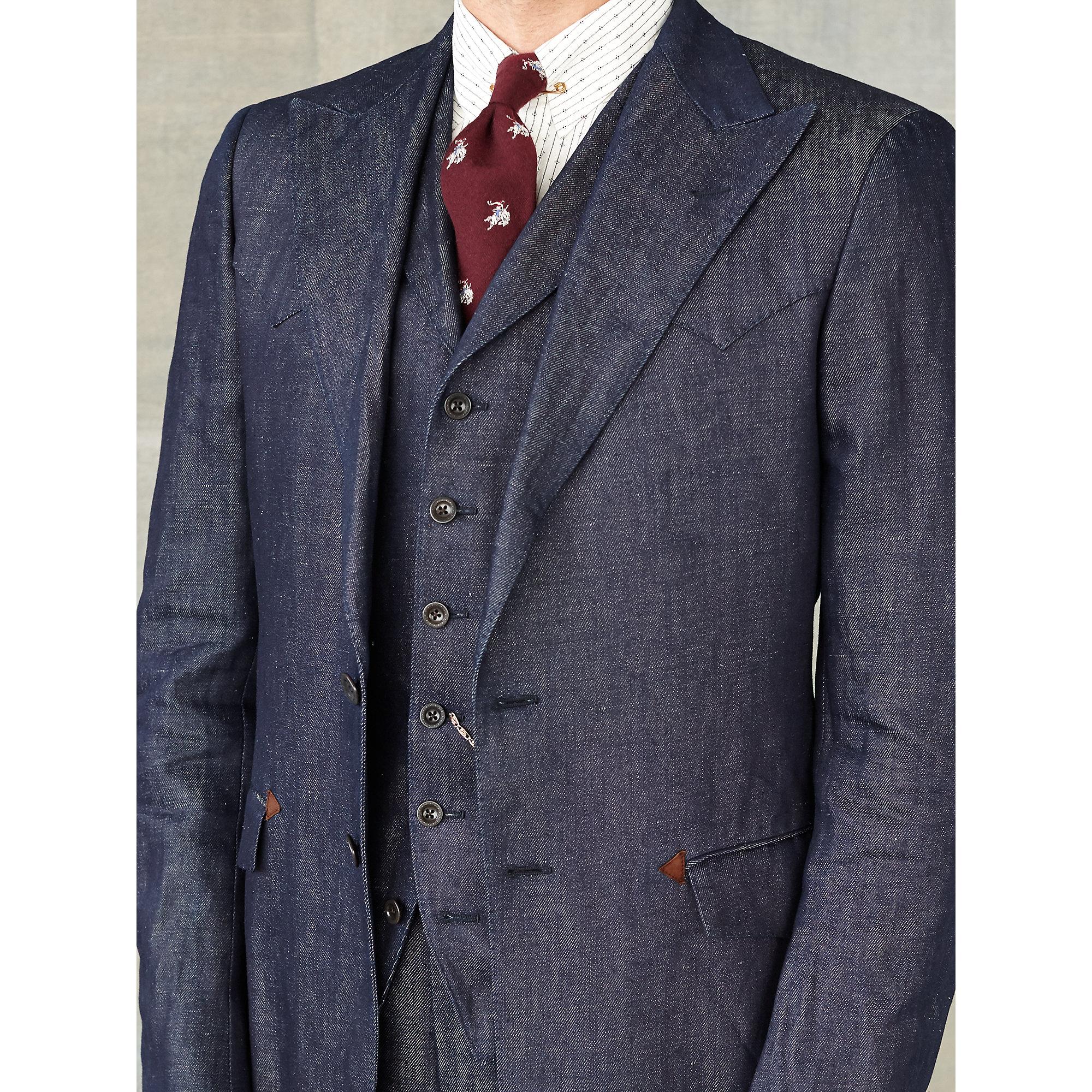 Rrl Denim Sport Coat In Blue For Men Lyst