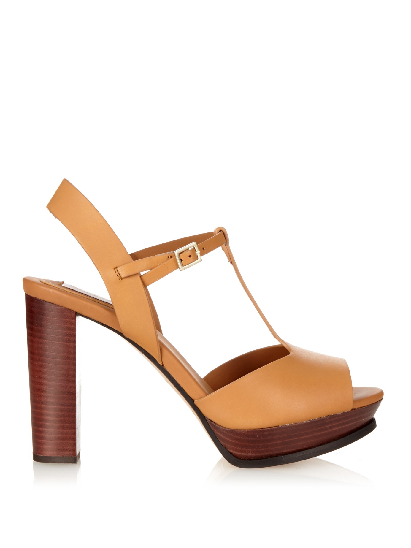 065c89528f48d Lyst - See By Chloé T-Bar Leather Sandals in Brown