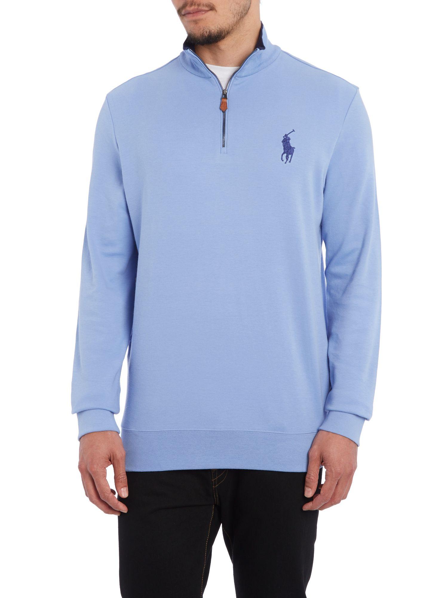 polo ralph lauren mens long sleeve half zip knit sweater discount ...