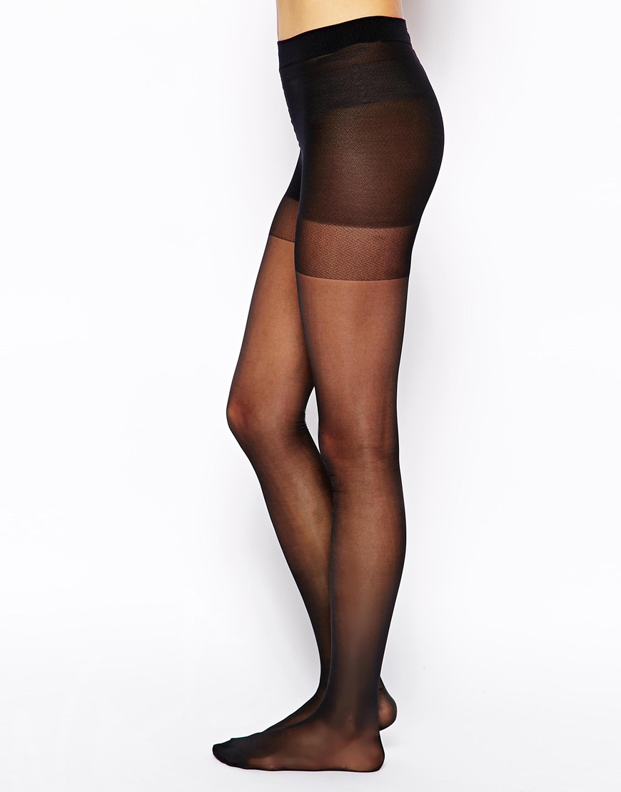 dc5ca26e3 Wolford Miss W 30 Denier Support Tights in Black - Lyst