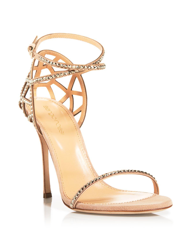 Lyst - Sergio Rossi Strappy Evening Sandals - Bon Ton High Heel in Pink