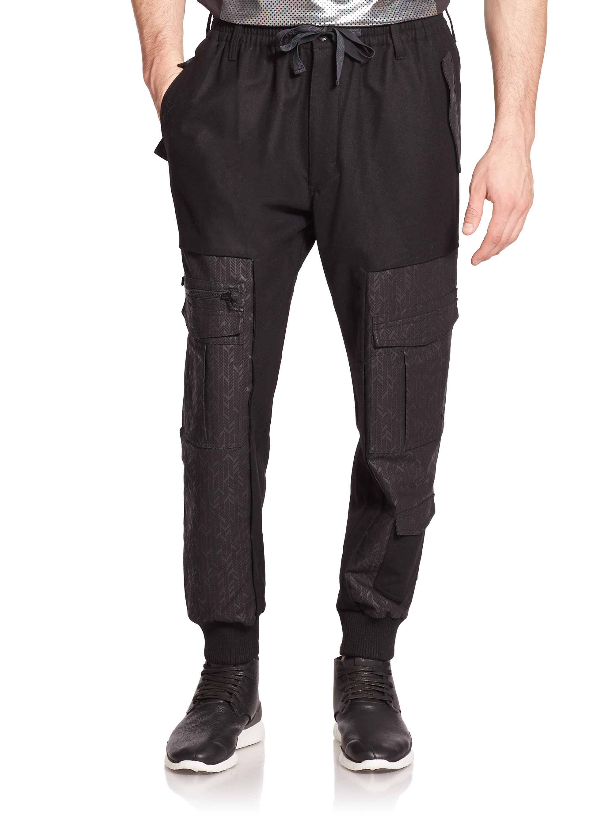 Y-3 Sherpa Track Pants in Black for Men