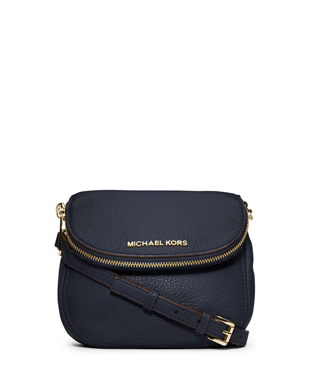 Bolsa Michael Kors Azul Marino : Michael kors bedford flap crossbody bag in blue