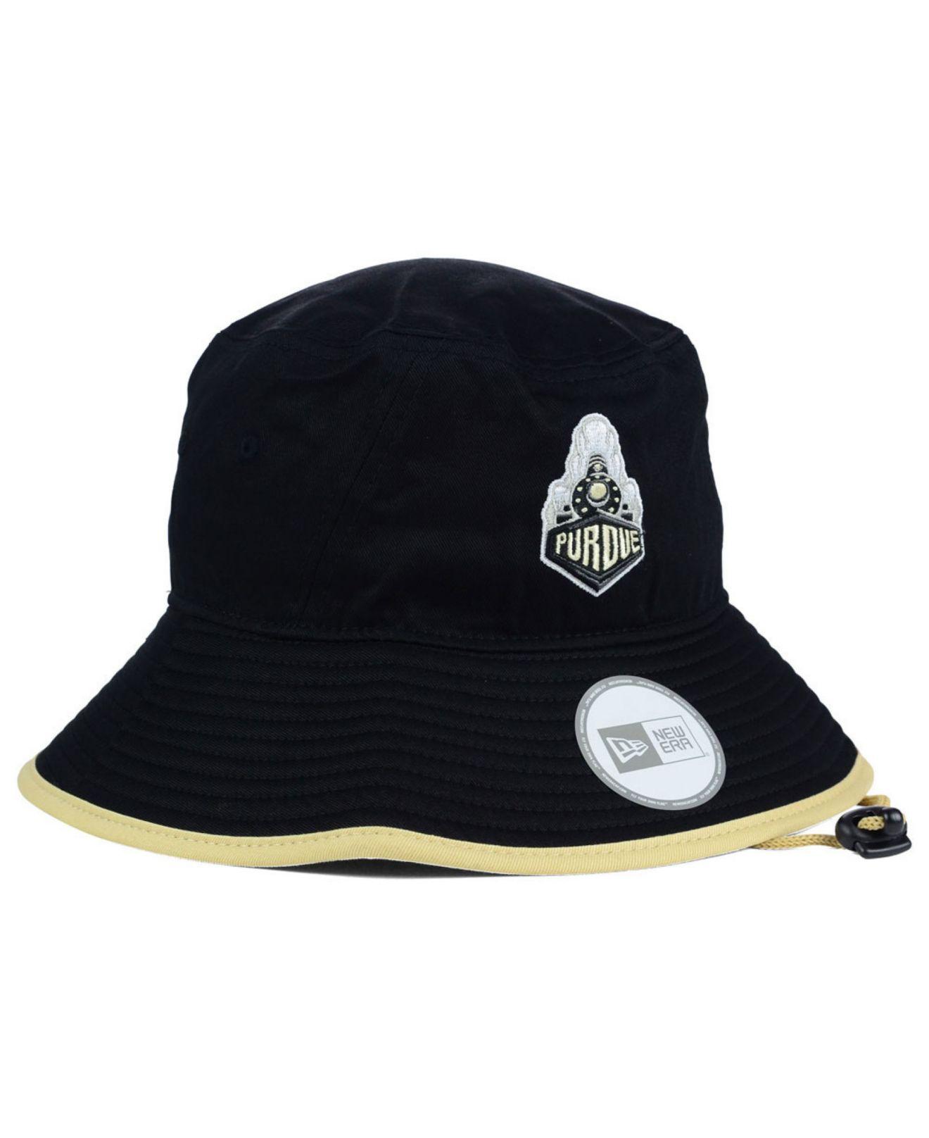 dfb80036171 Lyst - KTZ Purdue Boilermakers Tip Bucket Hat in Black for Men