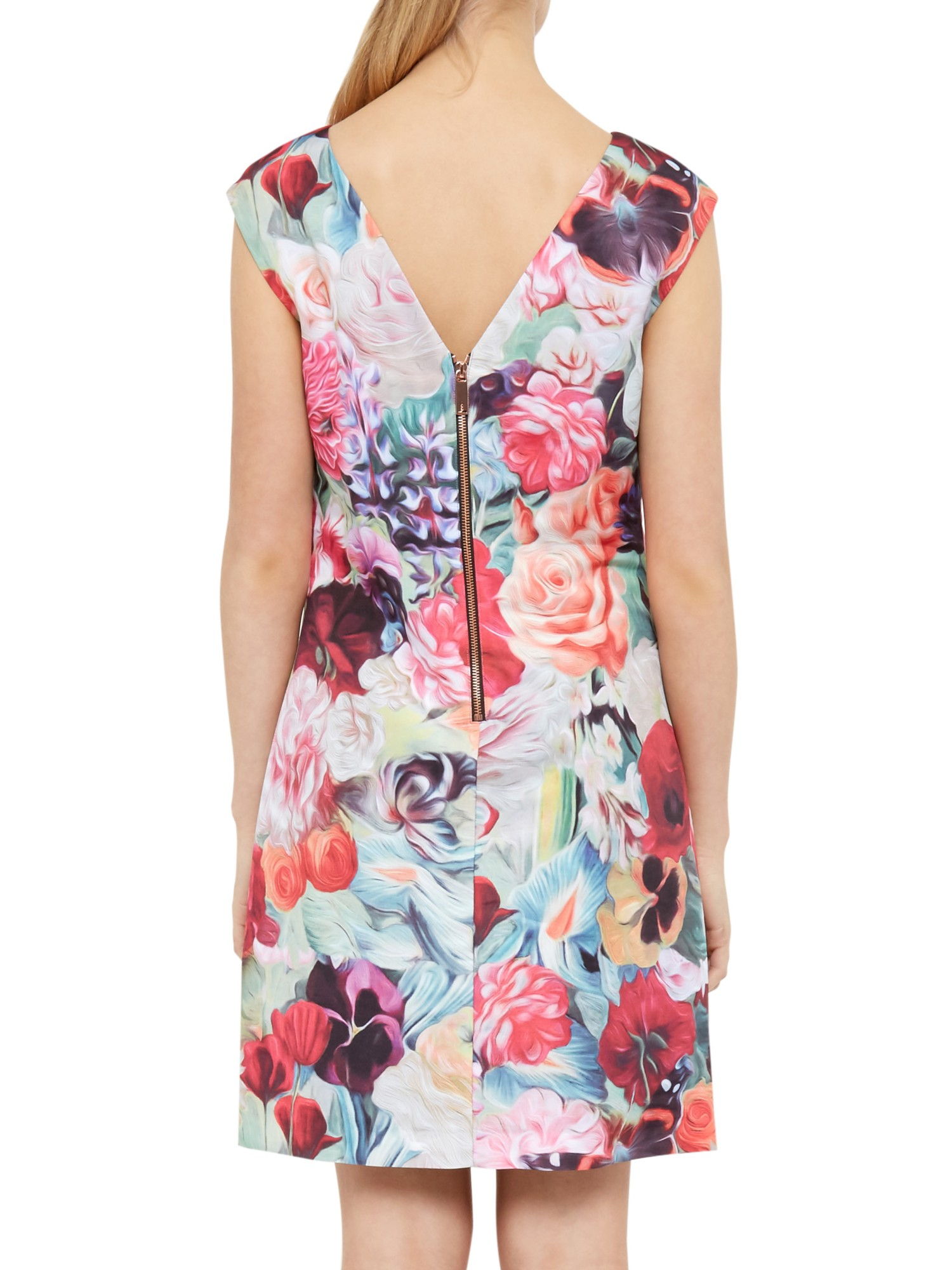 40bc878a8623c Ted Baker Quais Floral Swirl Tunic Dress in Pink - Lyst