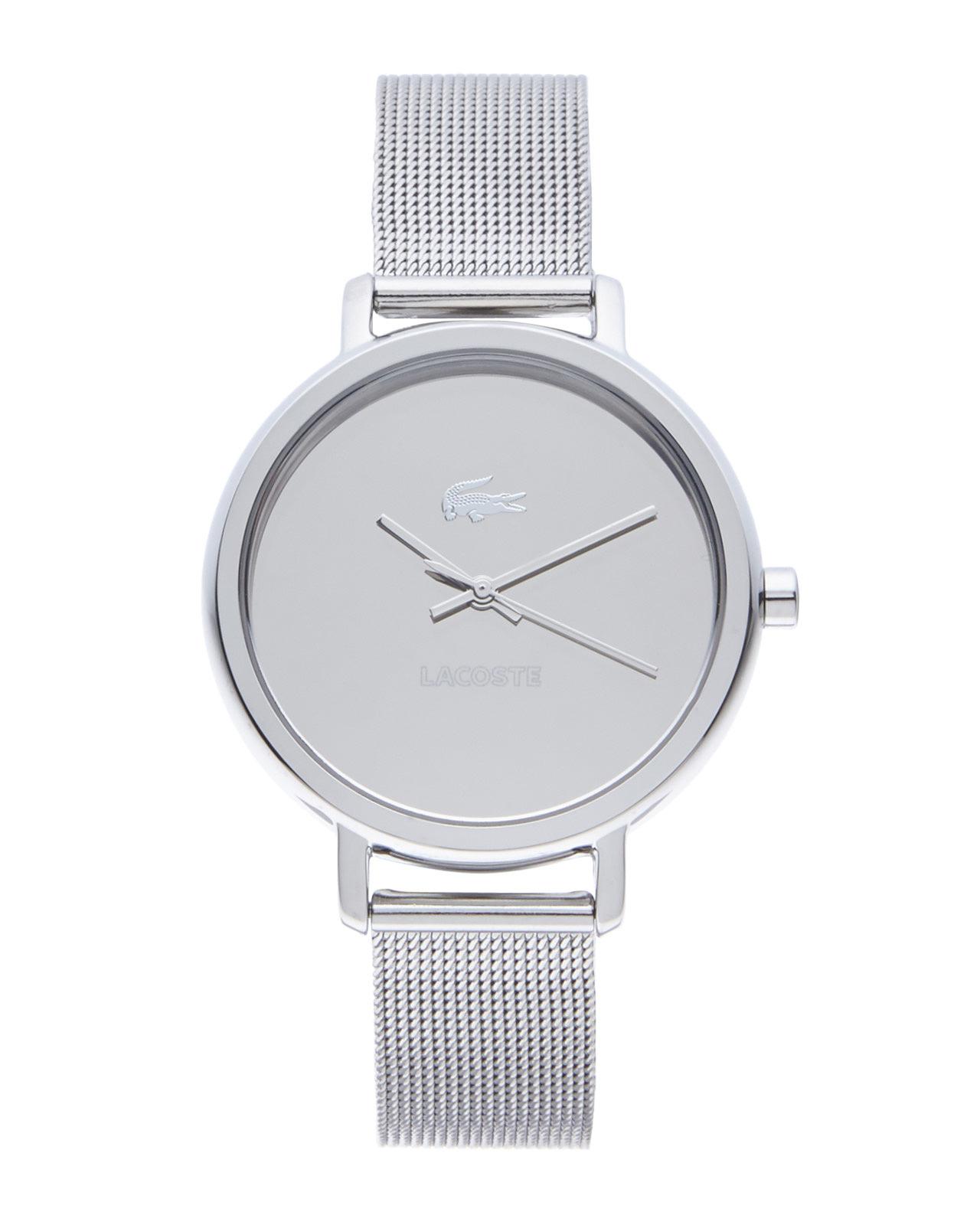 08bad93e130 Lyst - Lacoste 2000714 Silver-Tone Watch in Metallic