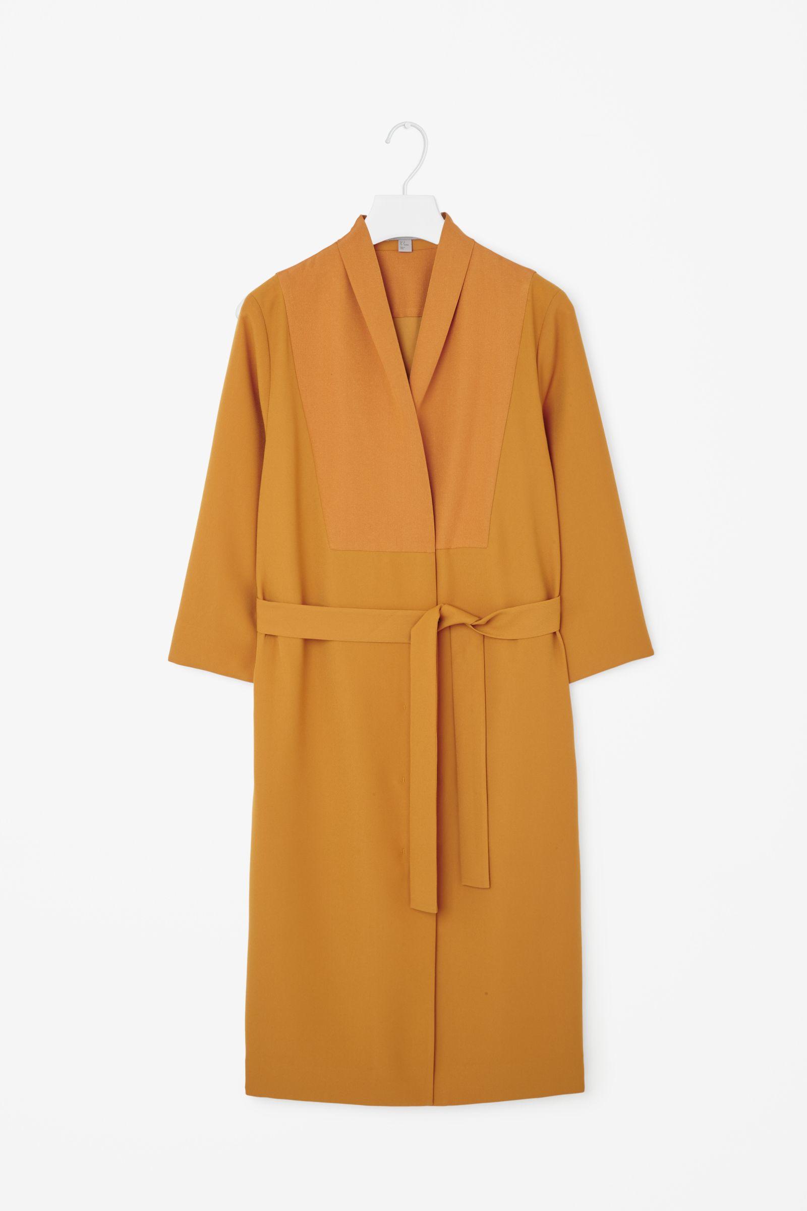 Cos Long Blazer Dress In Orange Egg Yolk Lyst