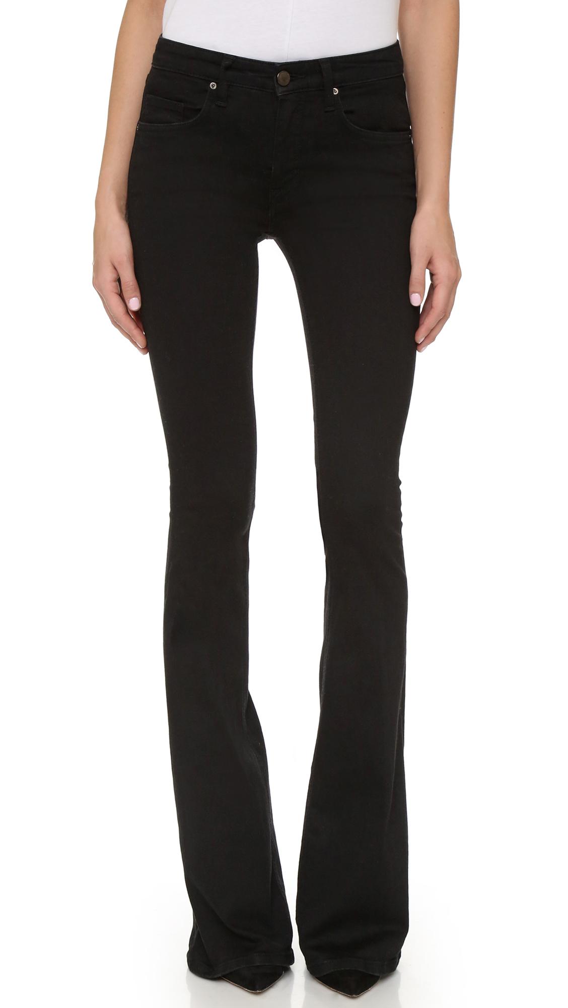 victoria victoria beckham flare jeans in black lyst. Black Bedroom Furniture Sets. Home Design Ideas