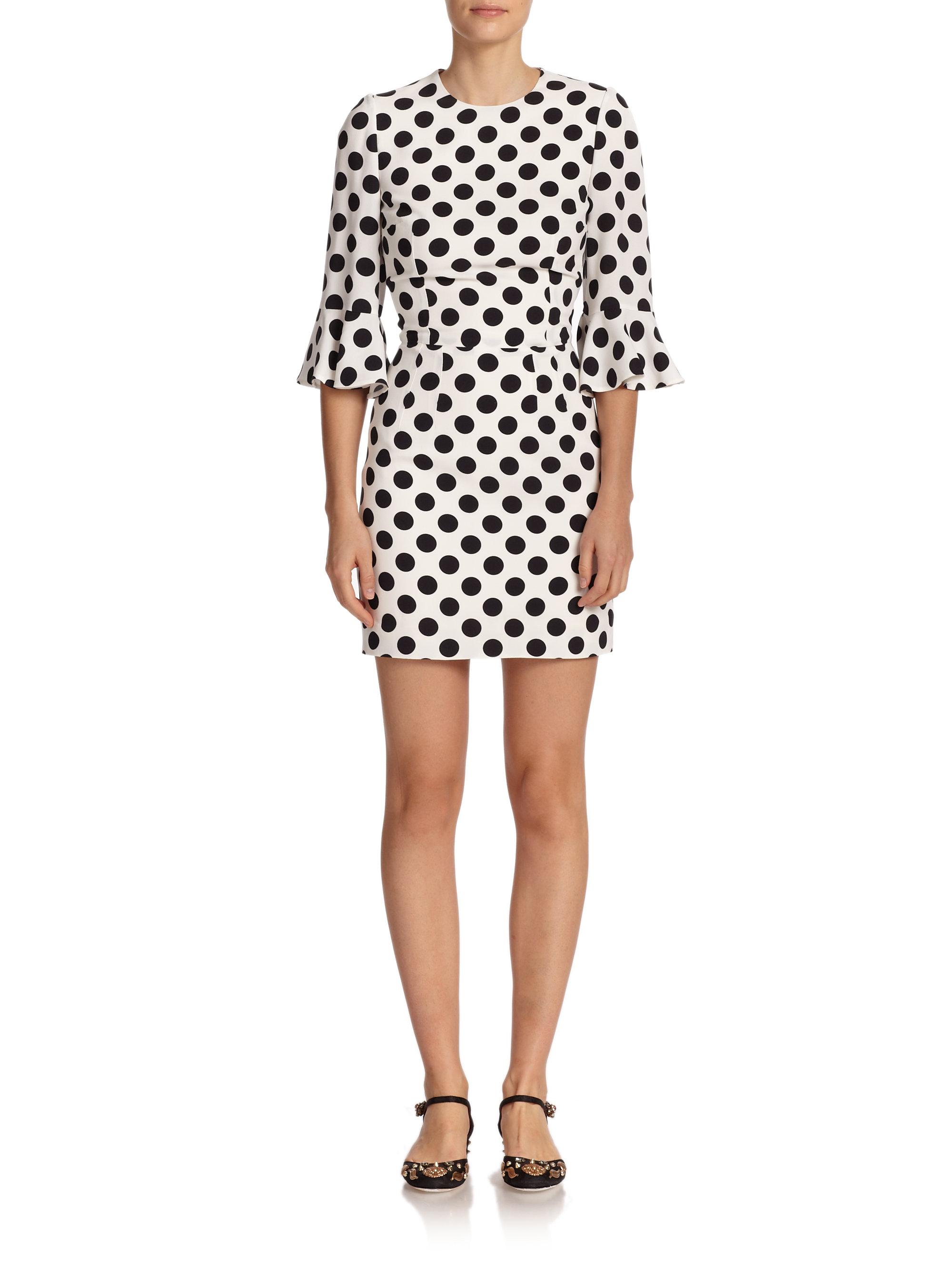 Lyst - Dolce   Gabbana Polka-Dot Dress in Black da2419e8eeee5