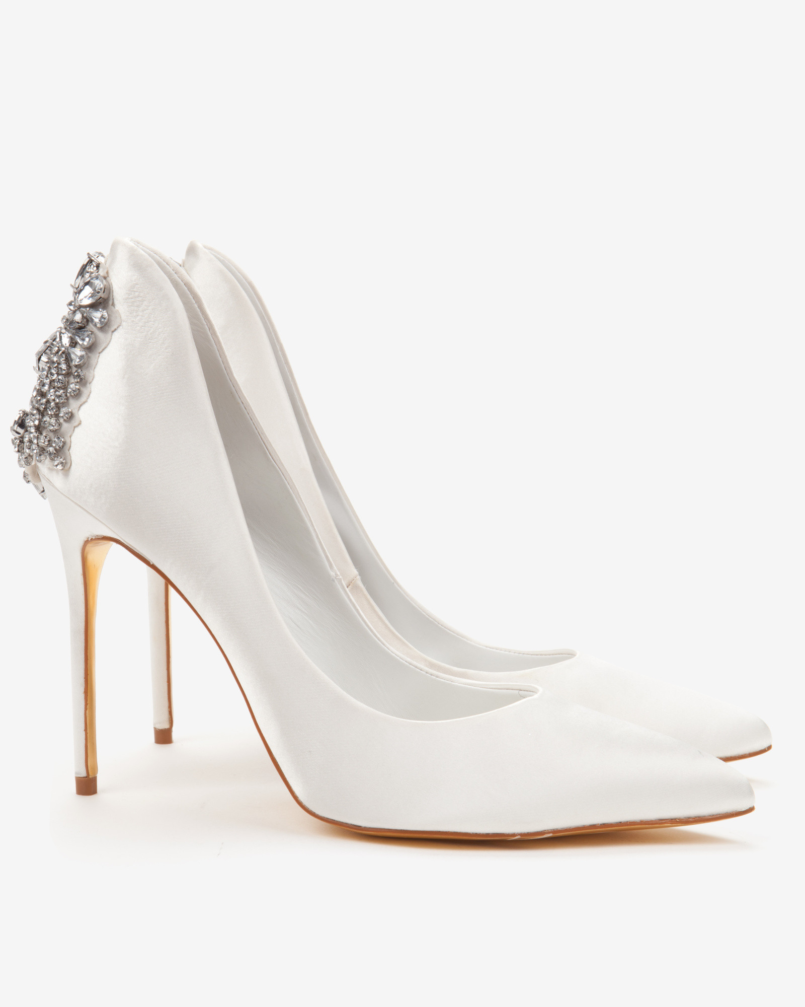 Ivory Leather Court Shoes