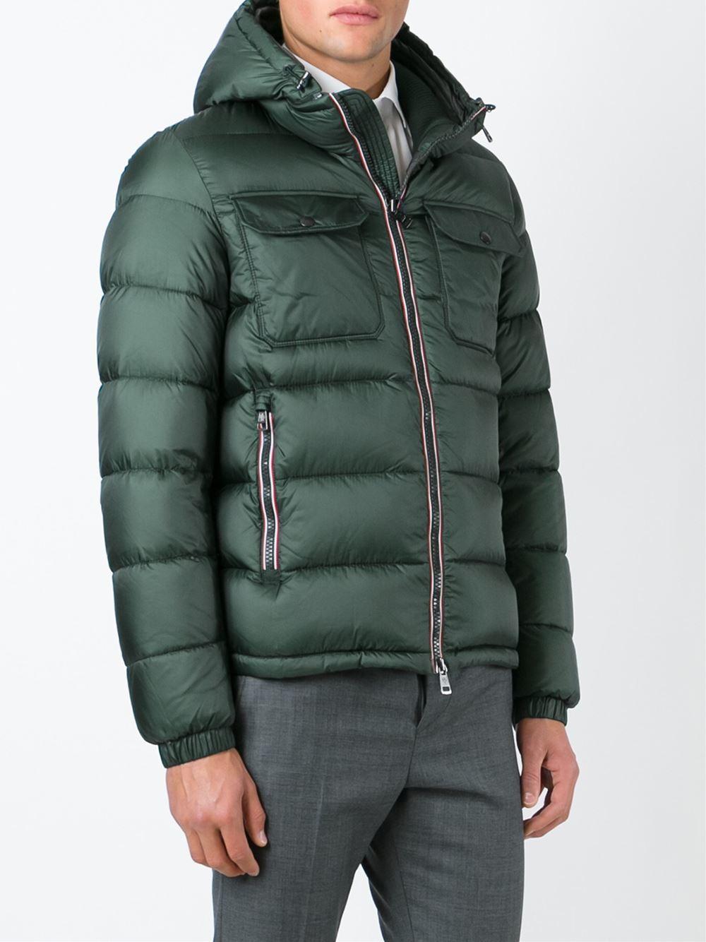 moncler jeanbart glossy puffer jacket; lyst moncler demar padded jacket in green for men