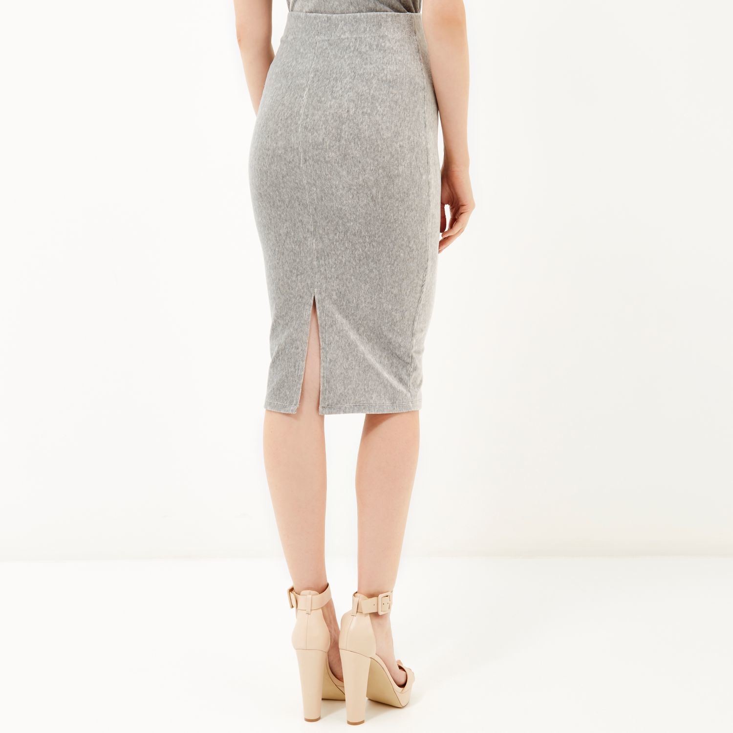 Light Grey Pencil Skirt - Dress Ala