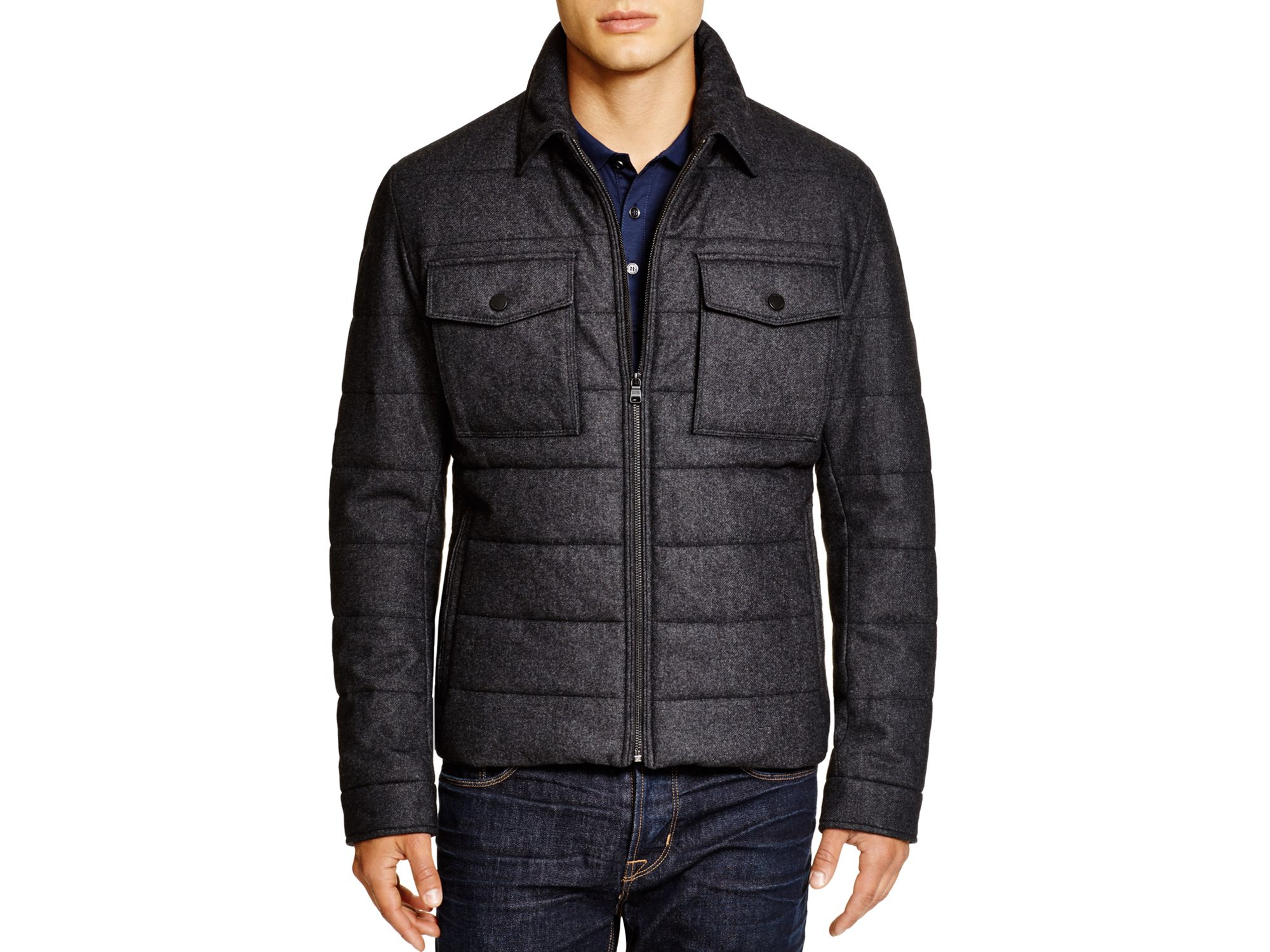 Canada Goose vest outlet authentic - Boss Cormac Wool Puffer Jacket - Bloomingdale's Exclusive in Gray ...
