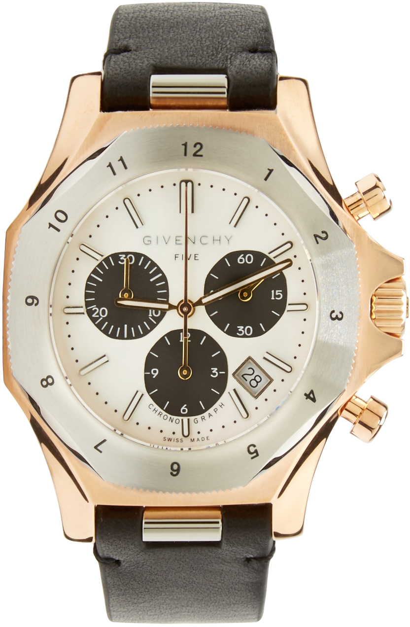givenchy silver and rose gold five watch in metallic for men lyst gallery previously at ssense · men s gold watches