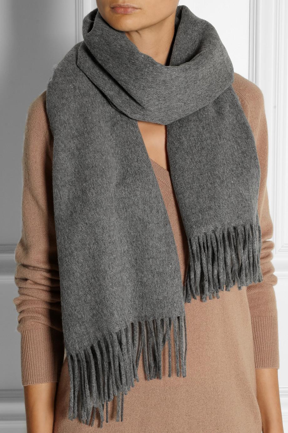 Canada Fringed Wool Scarf - Gray Acne Studios 7s9Ikf