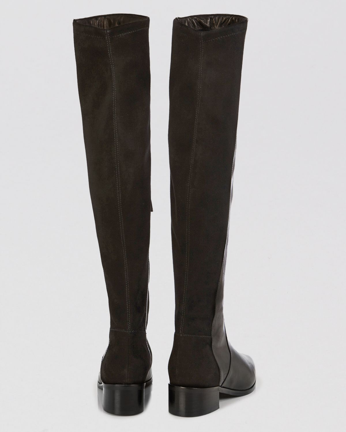 f5e7d938d75 Lyst - Karen Millen Flat Over The Knee Boots - Leather Suede in Black