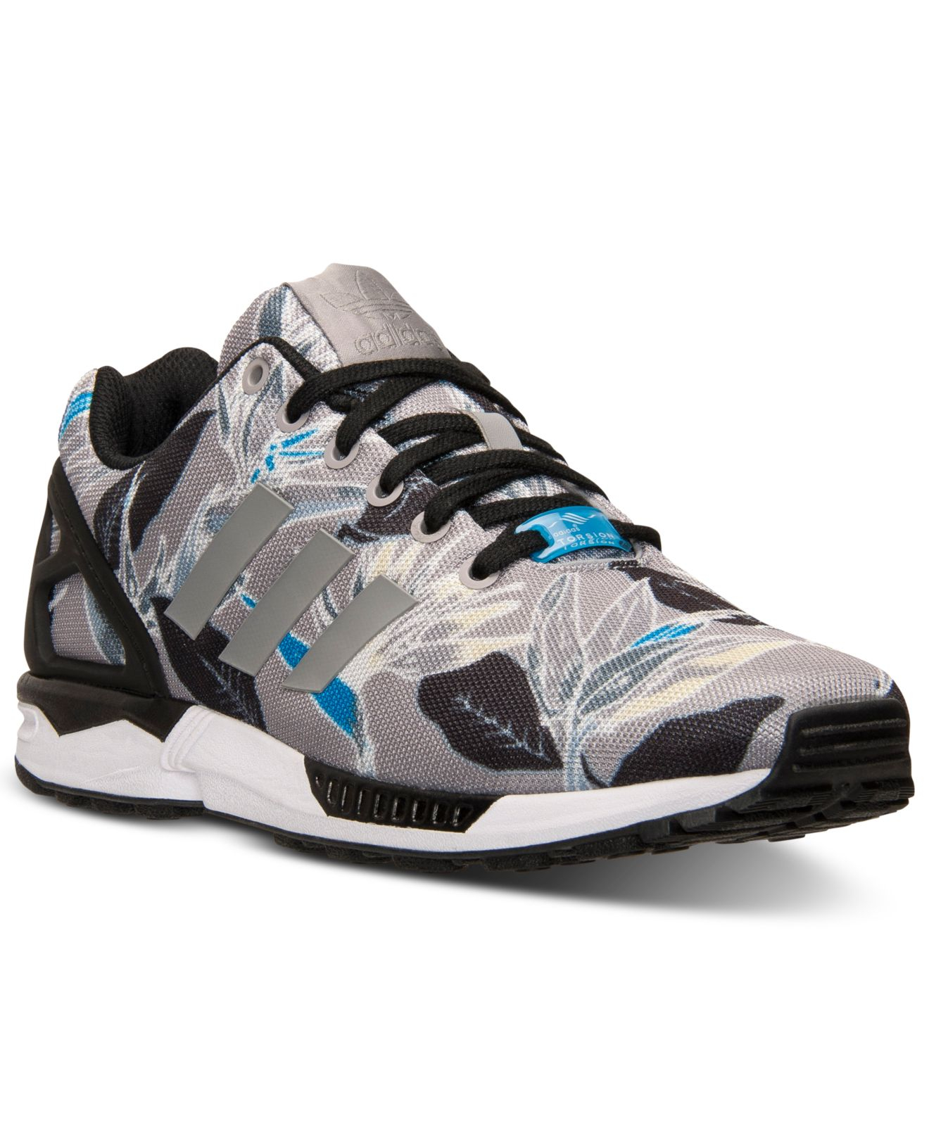 on sale e1626 a3178 adidas Men s Zx Flux Floral Print Casual Sneakers From Finish Line ...