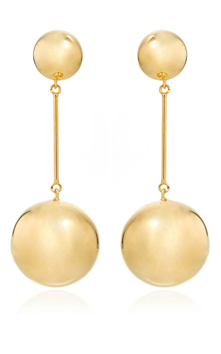 J.W.Anderson Sphere Drop Earrings in Metallics HdwHnr