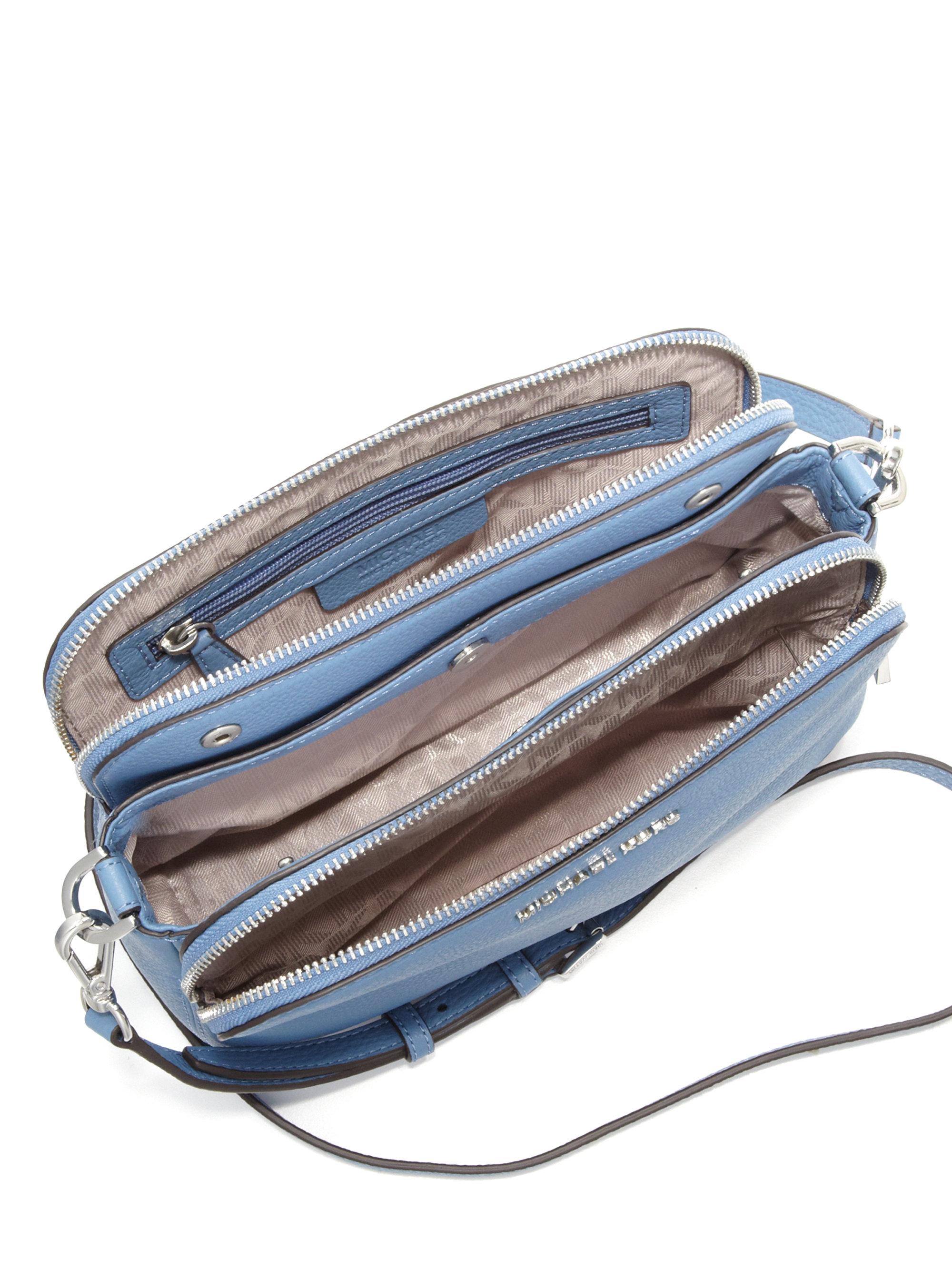 Lyst - MICHAEL Michael Kors Bedford Medium Double-zip Leather ... a774974773489