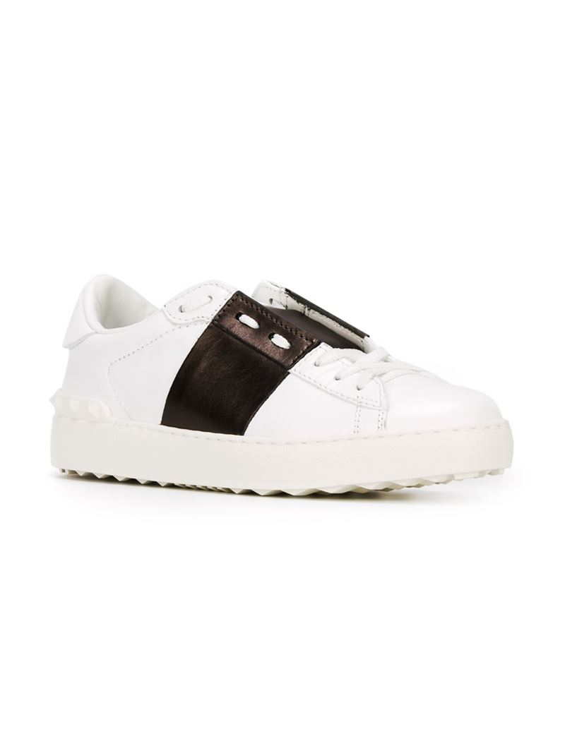valentino open sneakers in white lyst