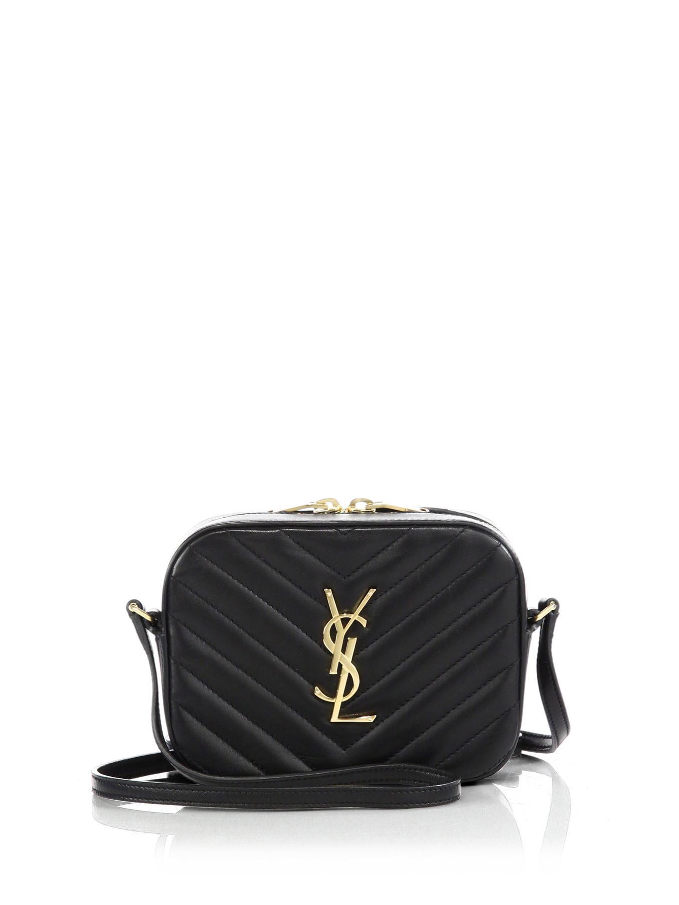 Saint Laurent Classic Small Monogram Saint Laurent Camera Bag In Black Leather