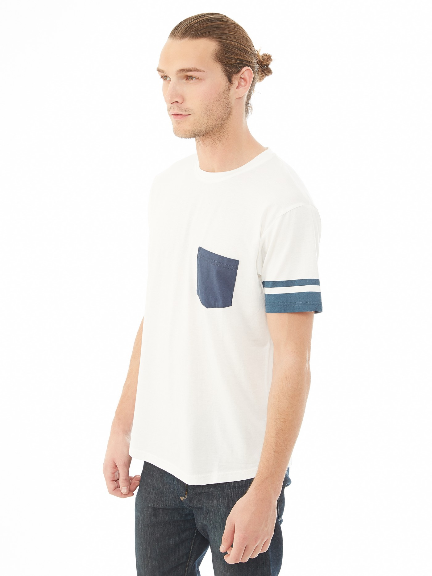 Alternative apparel cotton modal pocket crew t shirt in for Modal t shirts mens